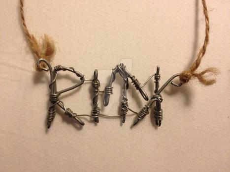 Viking Script Necklace