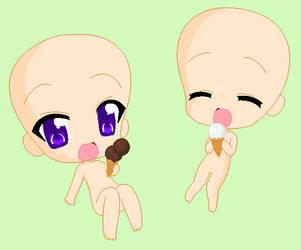 chibi base:Ice cream by IZfan4life