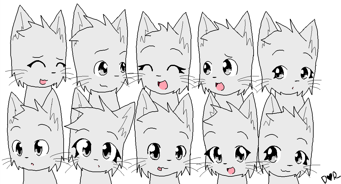 **HAHA OLD AAAH** Group of cats template or base by IZfan4life