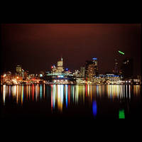 Melbourne Nightscape by nains