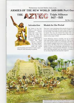 WAB: Aztec Army list