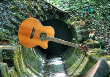 Guitar Bridge by taffmeister