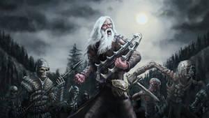Shaman Vainamoinen from Kalevala