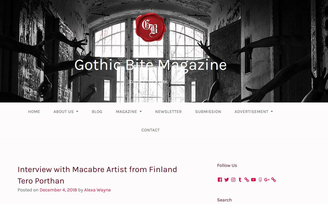 Tero Interview Gothic Bite Magazine