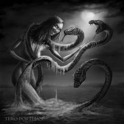 Syojatar Mother of snakes by TeroPorthan