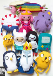 Adventure Time plushies by MegumiRe