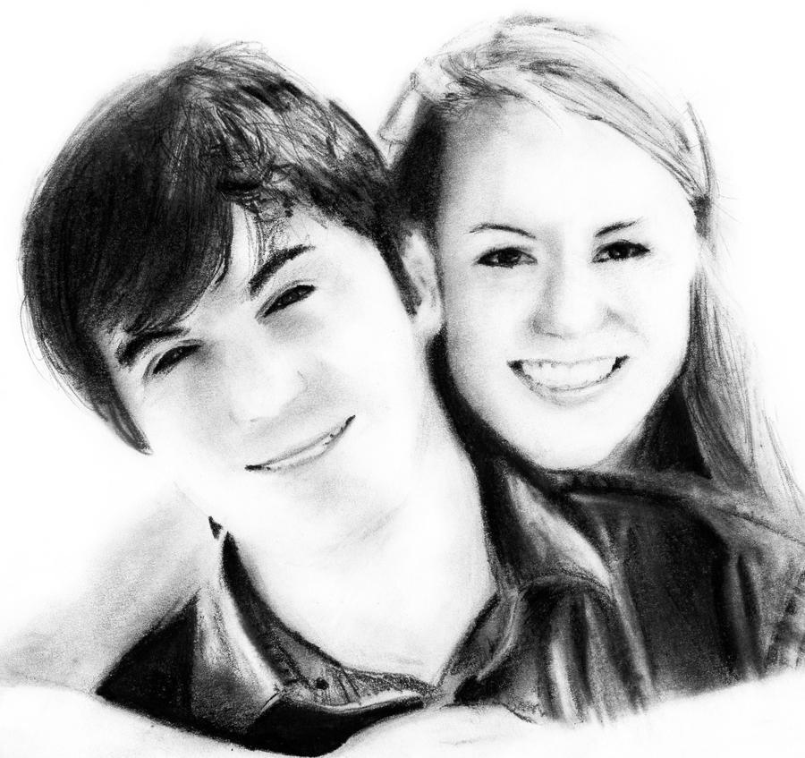 Couple in Love Pencil Drawing by portraitartuk on DeviantArt
