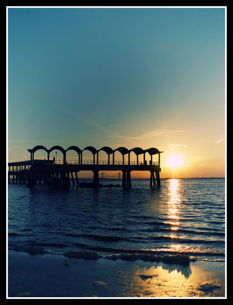 Jekyll Island Sunset 004 by sees2moons
