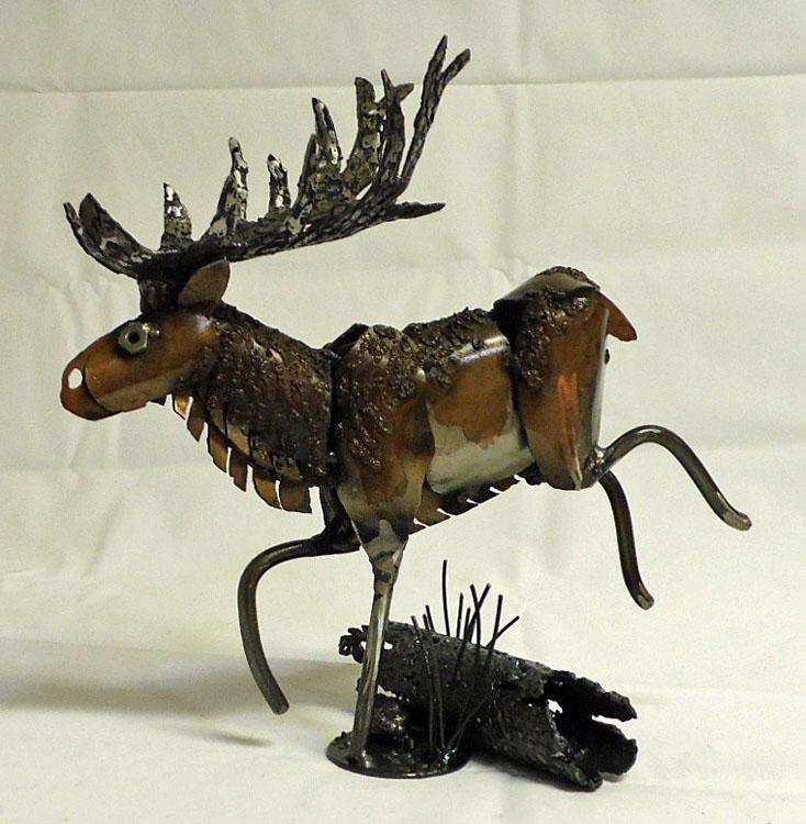 Leaping Elk by Angi-kat