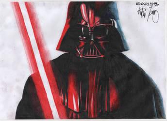 Handdrawn fanart of Darth Vader