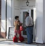 A Gentleman Holds the Door