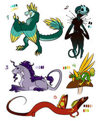 Creature Adopts! by DeviousRaptor