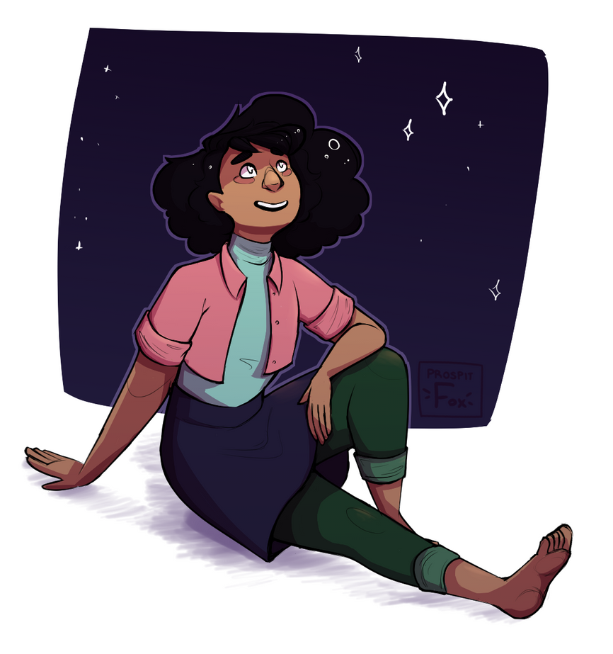 After kevins party, steven and connie go out and look at stars~ ...alright i just really love connies haircut!! and i had to draw stevonnie! I had to had no choice