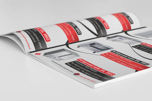 Gastrotechnika catalog page design