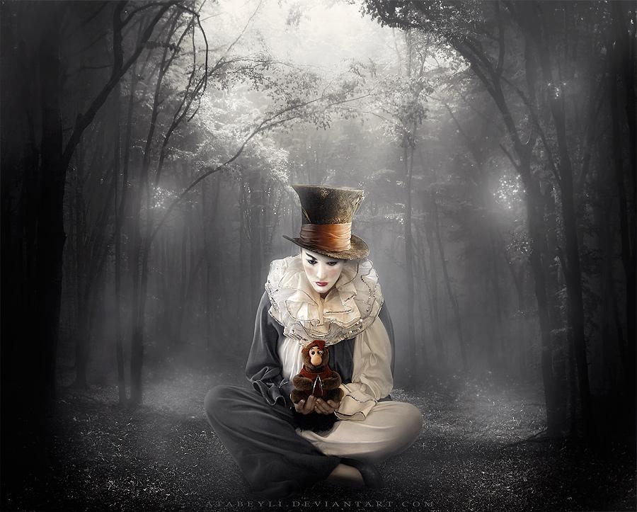 sad clown by atabeyli on deviantart