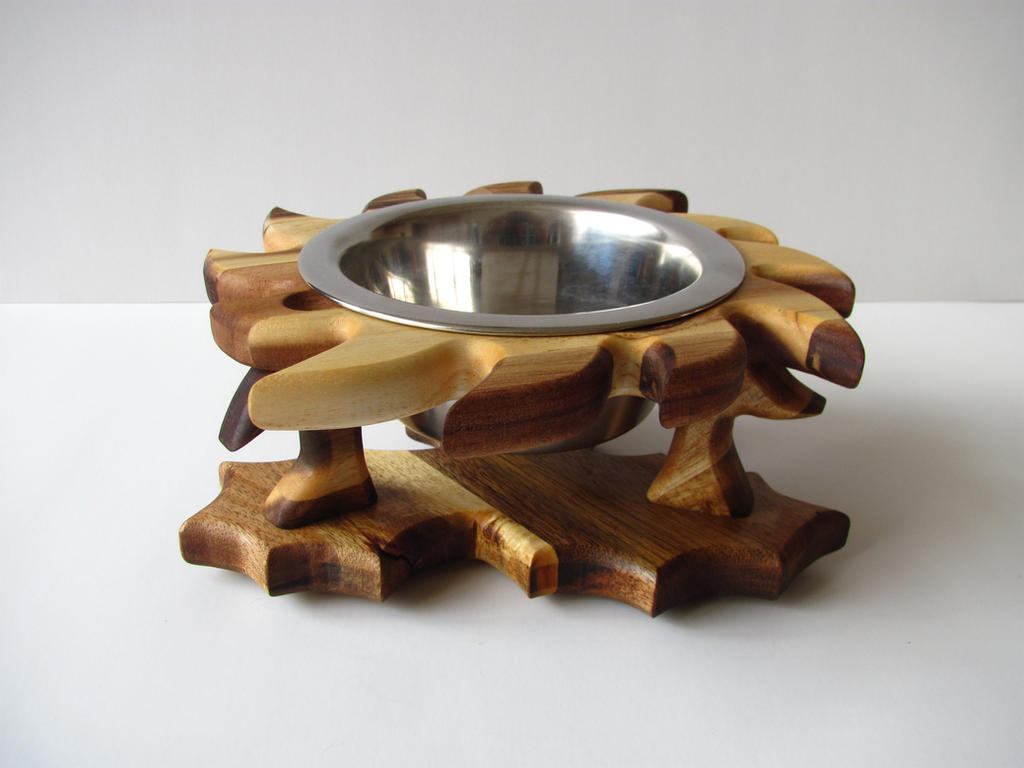 Dog Bowl Stand Thistle By Cc2kdesign