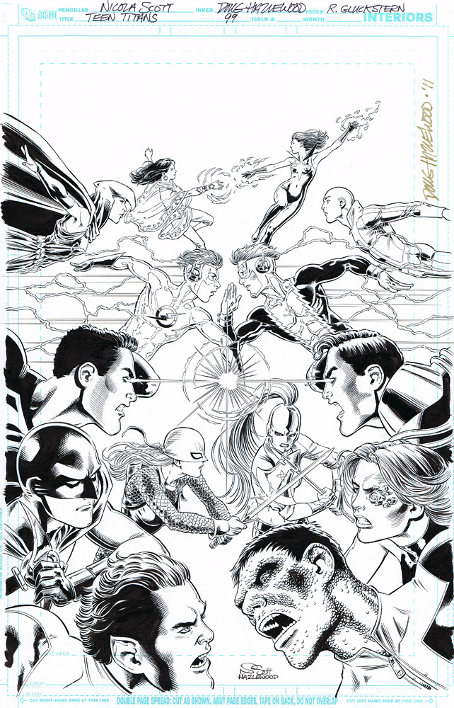 TEEN TITANS Issue 99 Cover Art by DRHazlewood