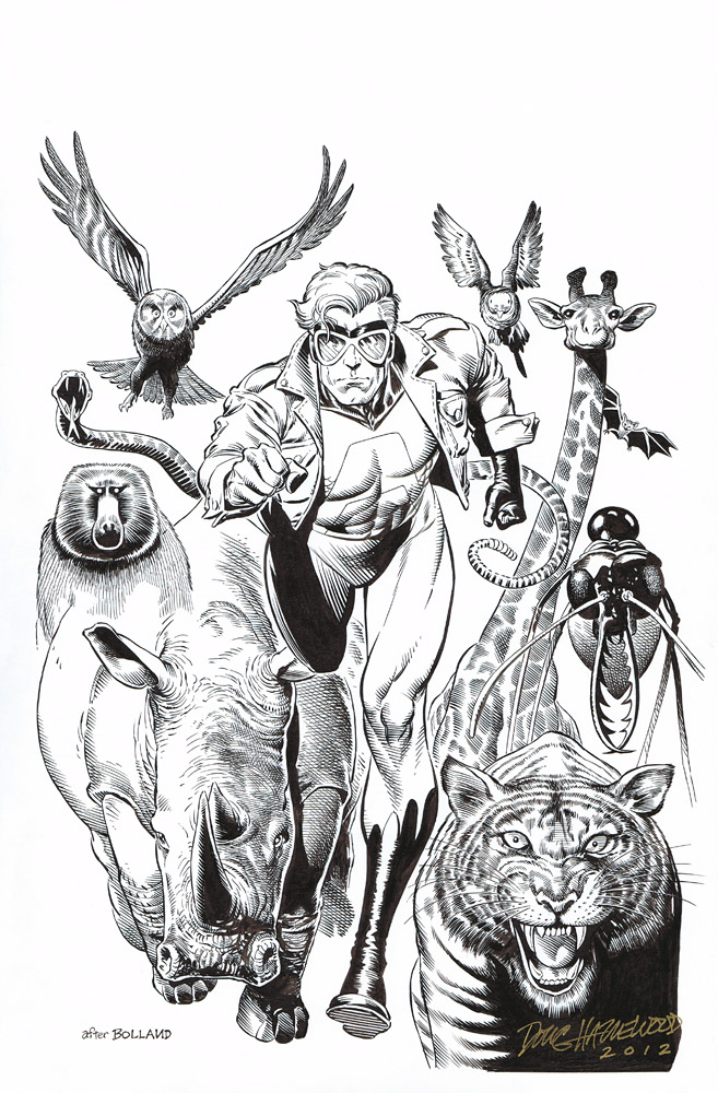 ANIMAL MAN #1 Cover Art Recreation (after Bolland) by DRHazlewood