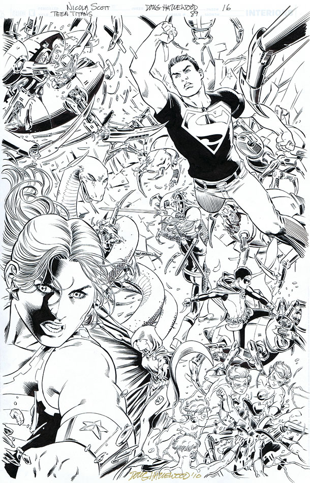 TEEN TITANS #89 - Incredible FULL-PG SPLASH Sold by DRHazlewood