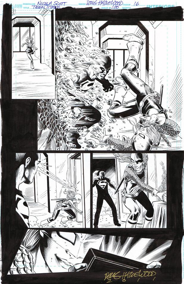 TEEN TITANS #100 - RAVAGER + Evil Superboy SOLD by DRHazlewood