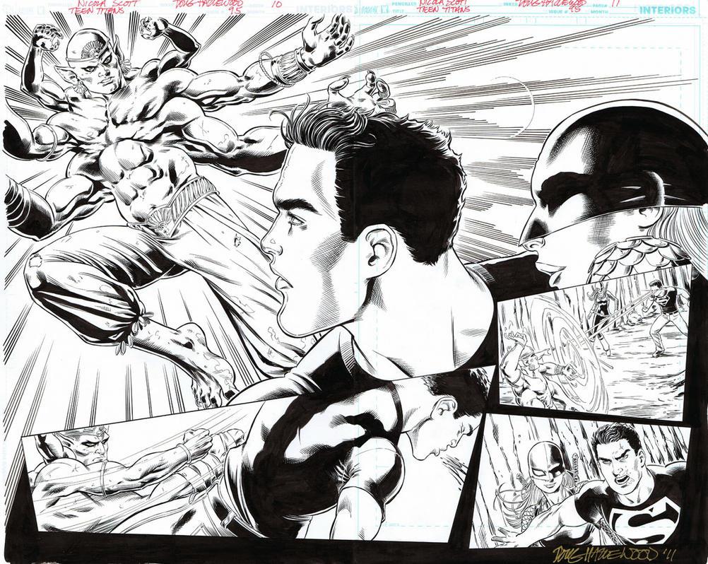 TEEN TITANS 95 DBL-PG SPREAD Superboy Ravager SOLD by DRHazlewood