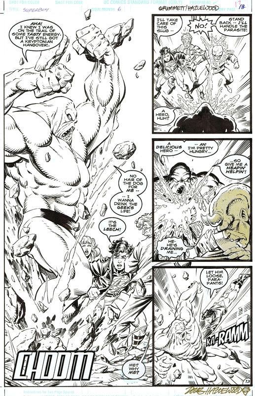 SUPERBOY #6 PARASITE Action Pg GRUMMETT/HAZLEWOOD by DRHazlewood