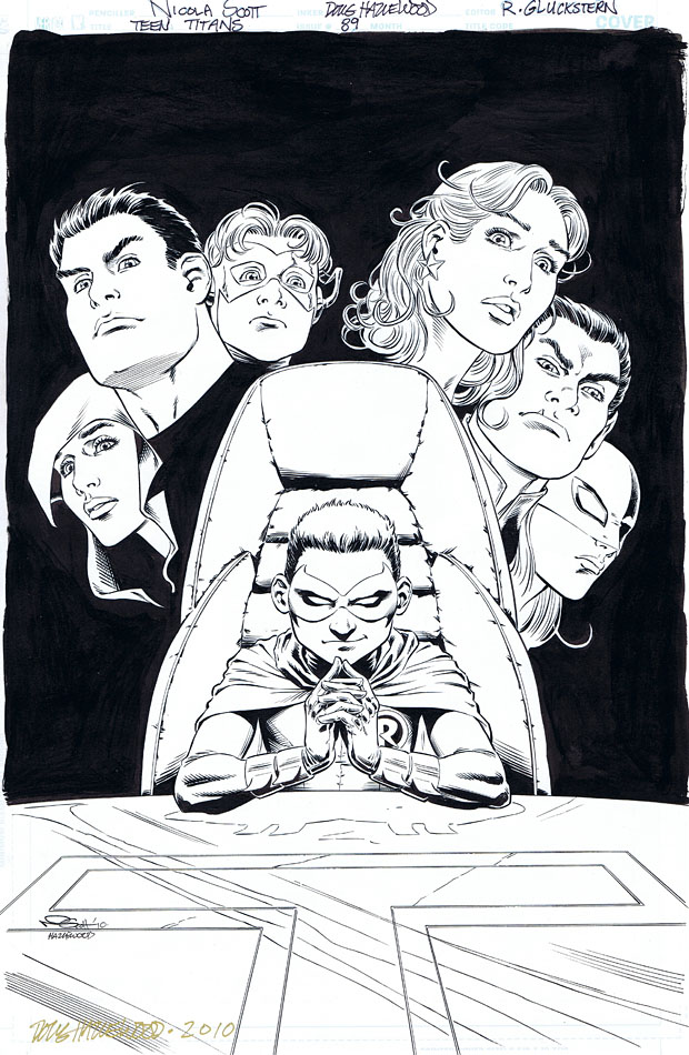 TEEN TITANS #90 Cover Art ROBIN (Damian) SOLD by DRHazlewood