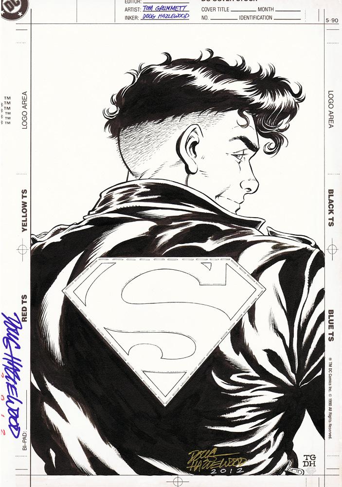 SUPERBOY DC Style Guide Unused Art - Grummett/DH by DRHazlewood