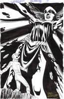 TEEN TITANS 100 P 14 - Spooky RAVEN Full-Pg Splash by DRHazlewood