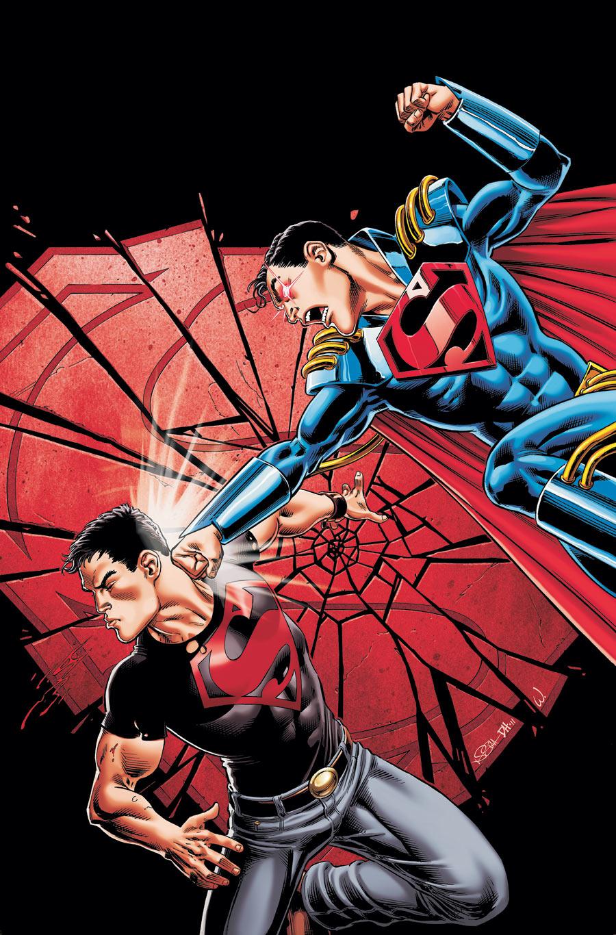 TEEN TITANS #98 Color COVER ART Superboy-Prime by DRHazlewood