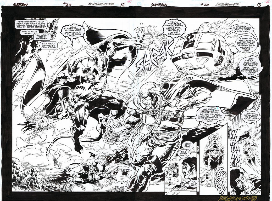 SUPERBOY #20 DOUBLE-PAGE SPLASH Darryl Banks! by DRHazlewood