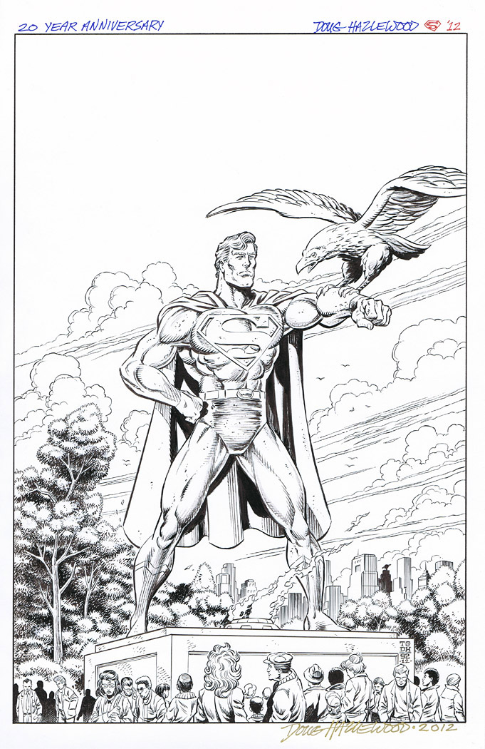 ADVENTURES OF SUPERMAN 499 Cover Recreation SOLD by DRHazlewood
