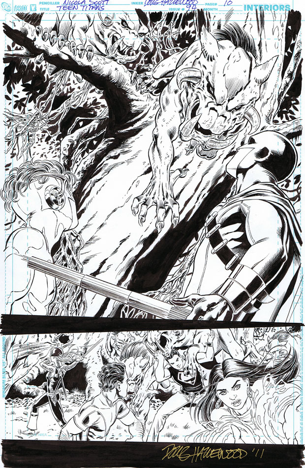 TEEN TITANS 94 2/3 Pg Splash! Demonic critters by DRHazlewood