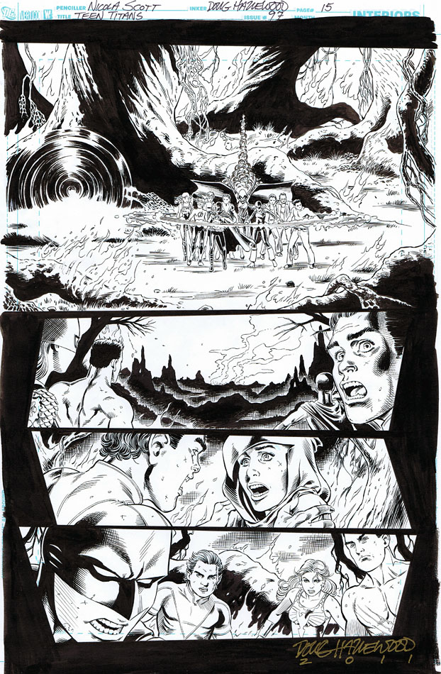 TEEN TITANS #97 Pg 15 - Where is Solstice? $65 by DRHazlewood