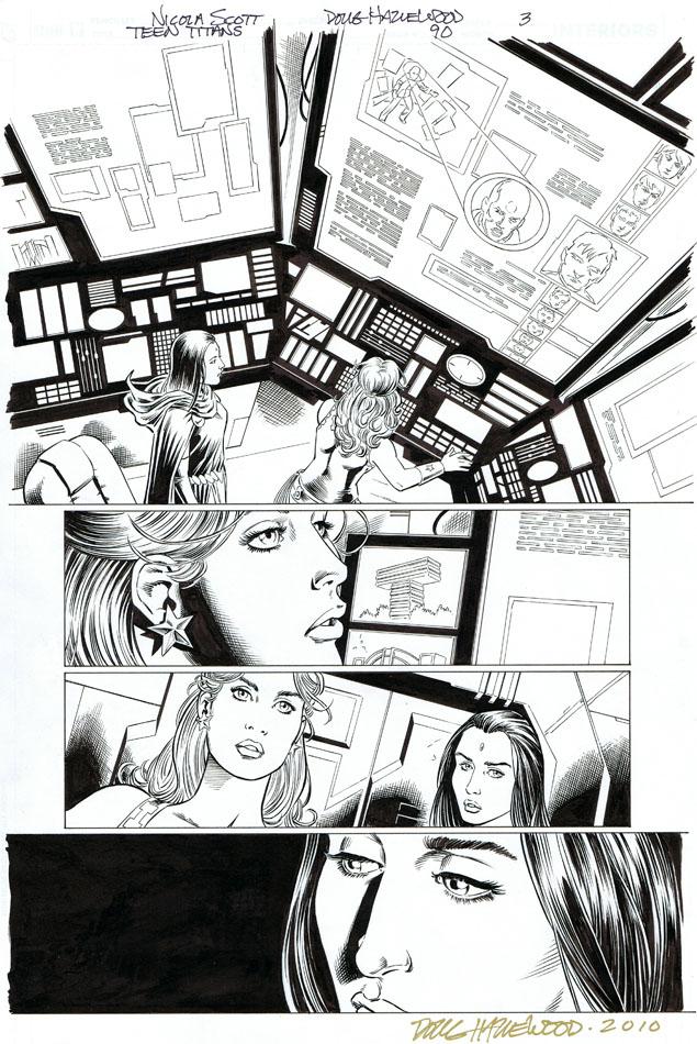 TEEN TITANS #90 Pg 3 - CASSIE + RAVEN Featured by DRHazlewood