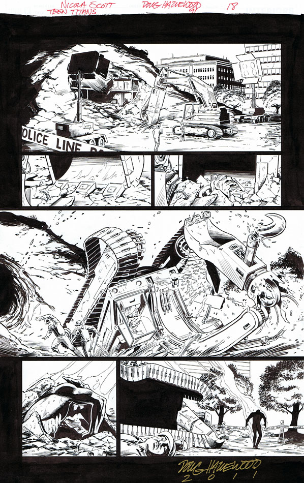 TEEN TITANS #91 Pg 18 - Trouble's on the Way $25 by DRHazlewood