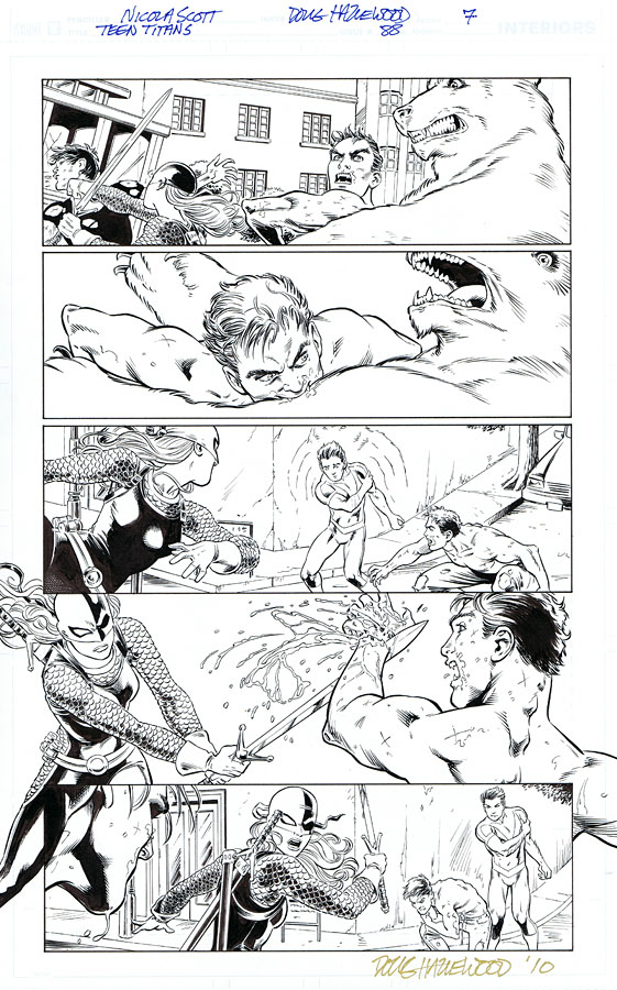 TEEN TITANS #88 Pg 7 - RAVAGER + BEAST BOY Sold by DRHazlewood