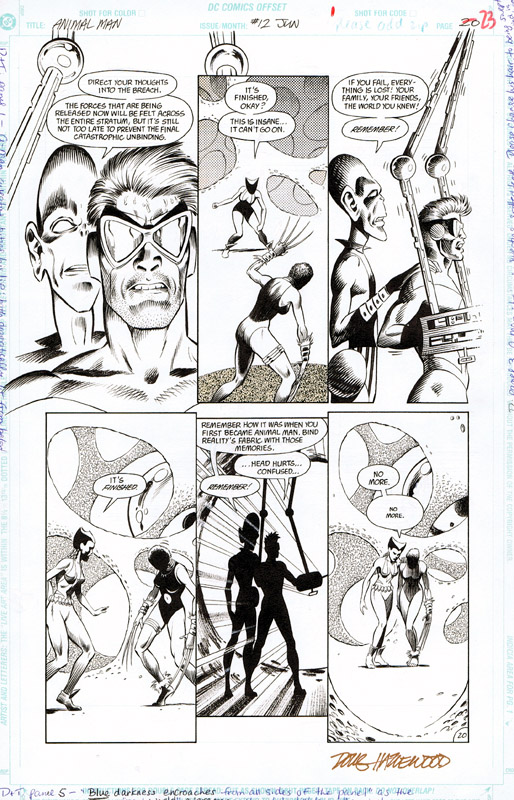 ANIMAL MAN #12 Pg 20 - A-Man and the Aliens SOLD by DRHazlewood