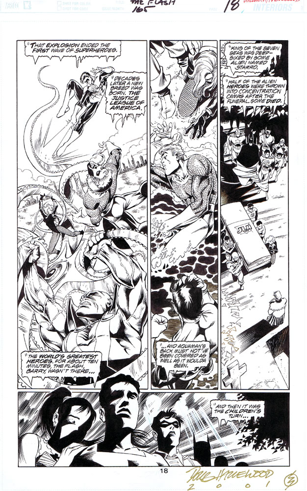 FLASH #165 Pg. 18 - JLA + TEEN TITANS X-Over SOLD by DRHazlewood