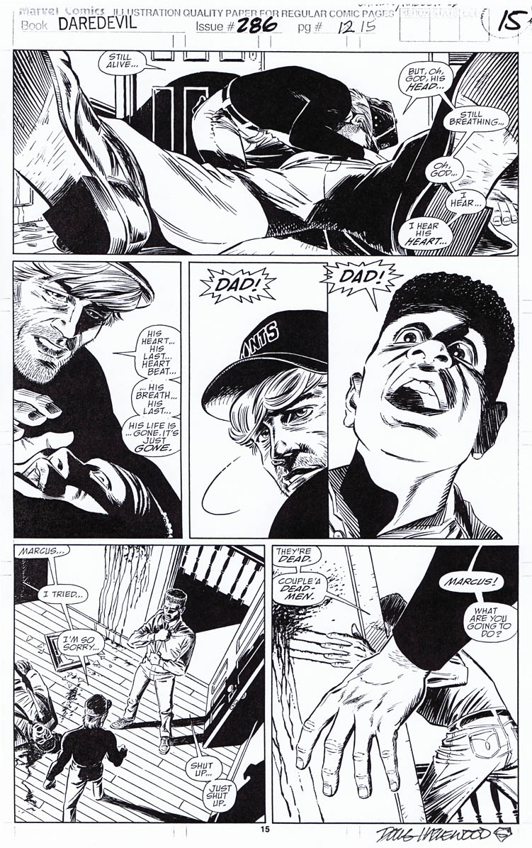 DAREDEVIL #286 Pg 15 Capullo-Hazlewood SOLD by DRHazlewood