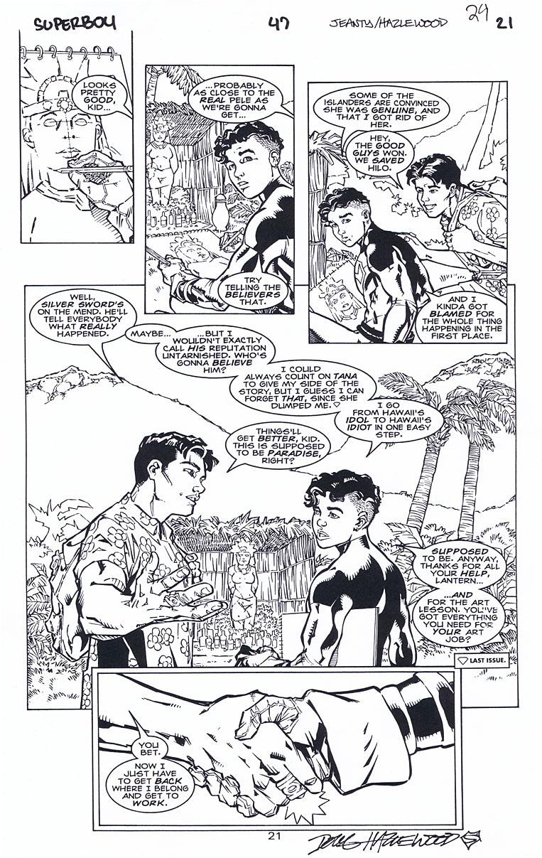 SUPERBOY 47 Pg 21 Green Lantern (Kyle) X-Over SOLD by DRHazlewood