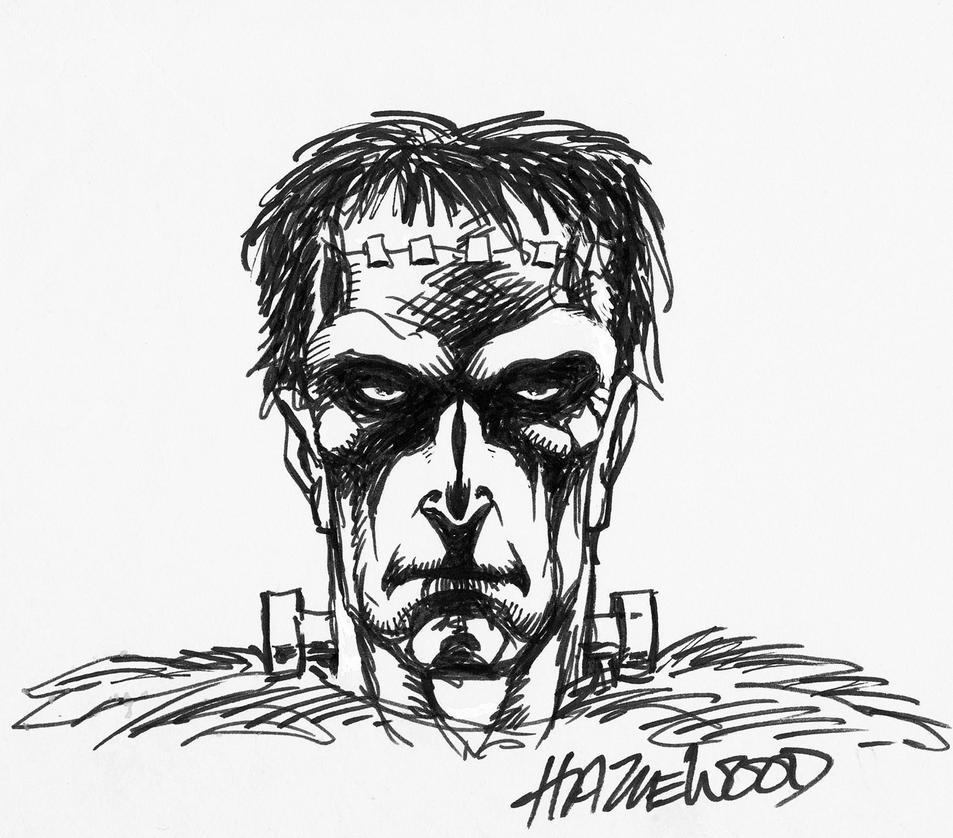 FRANKENSTEIN'S MONSTER Sketch - Doug Hazlewood by DRHazlewood