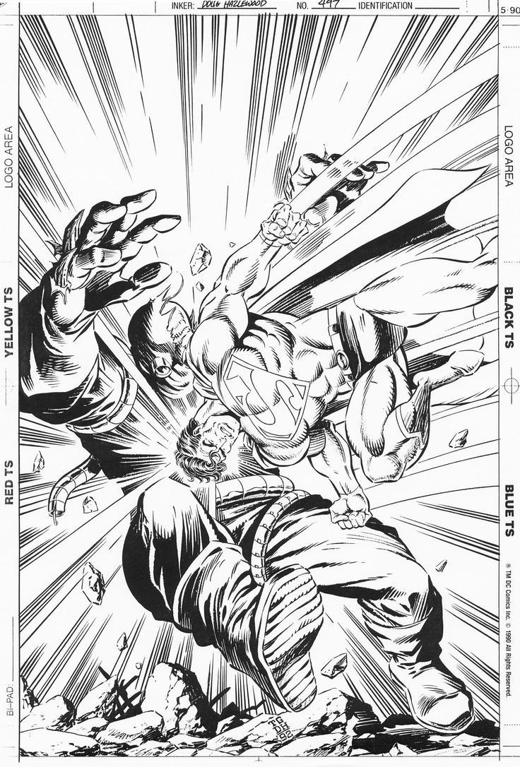 ADVENTURES OF SUPERMAN #497 Cover Art  GRUMMETT/DH by DRHazlewood
