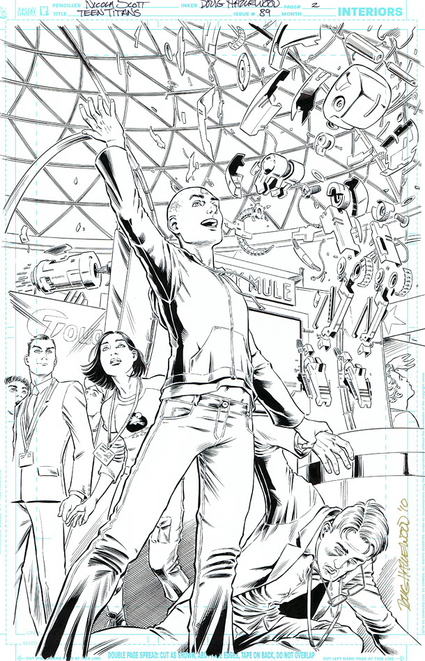TEEN TITANS 89-Full-pg title splash! HEADCASE  $60 by DRHazlewood