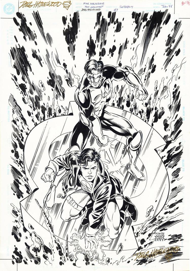 SUPERBOY #47 Cover Art GREEN LANTERN X-Over by DRHazlewood