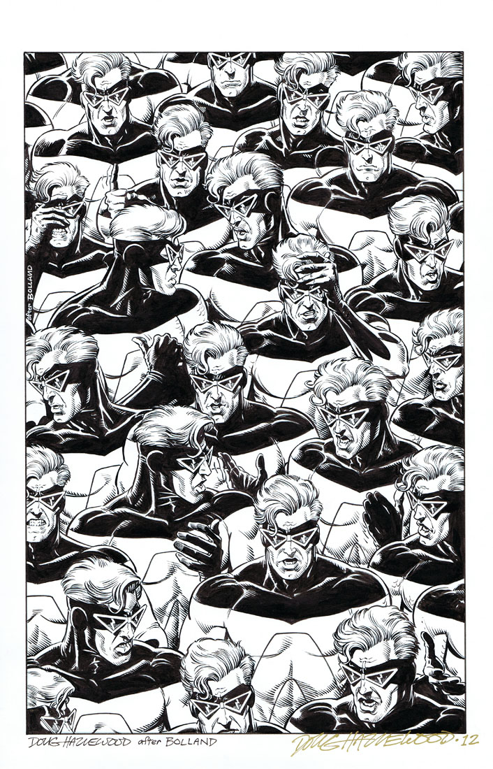 ANIMAL MAN #12 COVER Art Recreation (Bolland) SOLD by DRHazlewood