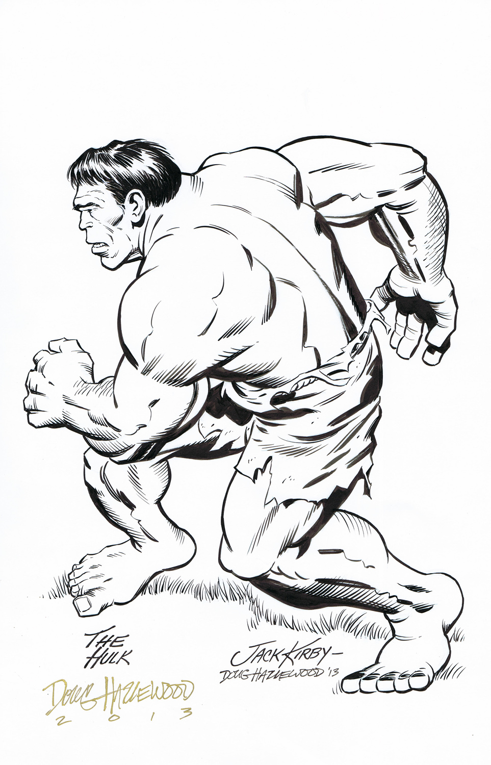 INCREDIBLE HULK Pin-Up JACK KIRBY/HAZLEWOOD by DRHazlewood