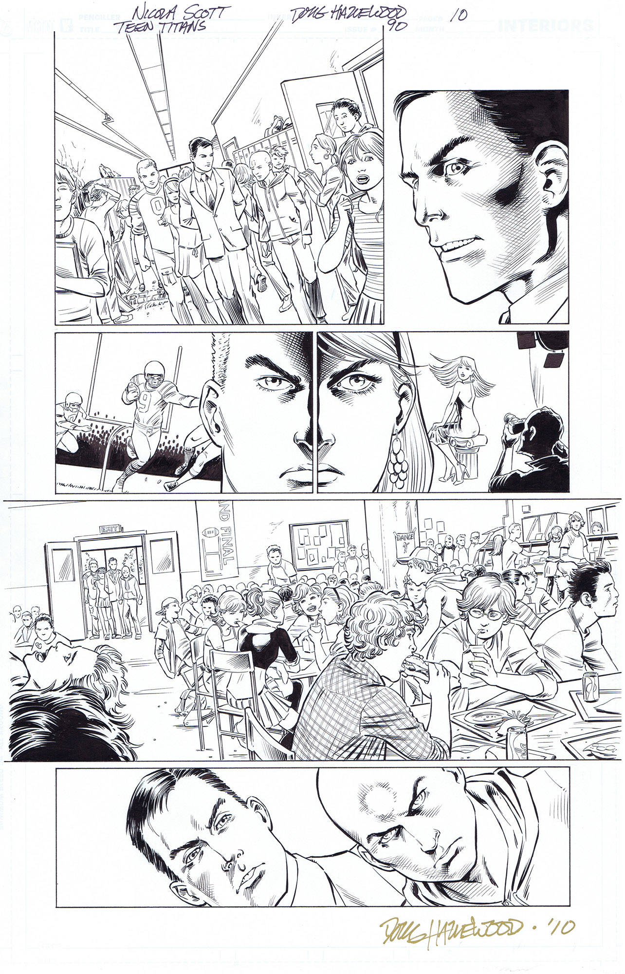 TEEN TITANS #90 Pg 10 Not Your Average School $25 by DRHazlewood