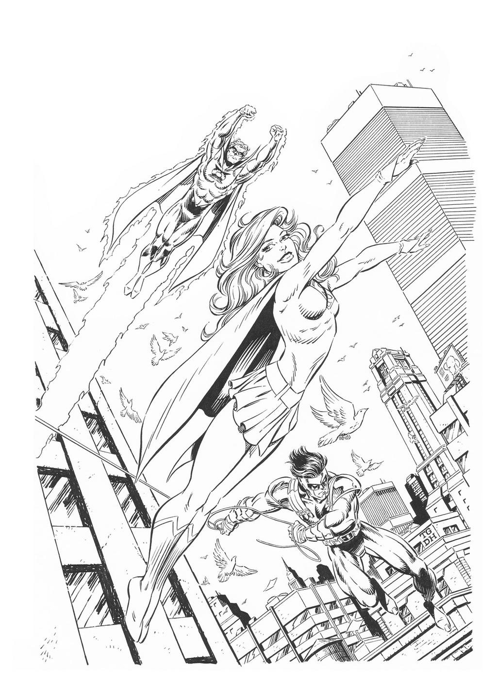 SHOWCASE '95 #1 Cover Art SUPERGIRL - Grummett/DH by DRHazlewood