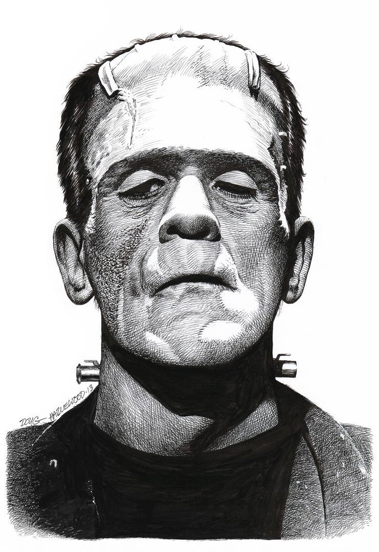 Karloff FRANKENSTEIN MONSTER Doug Hazlewood SOLD by DRHazlewood